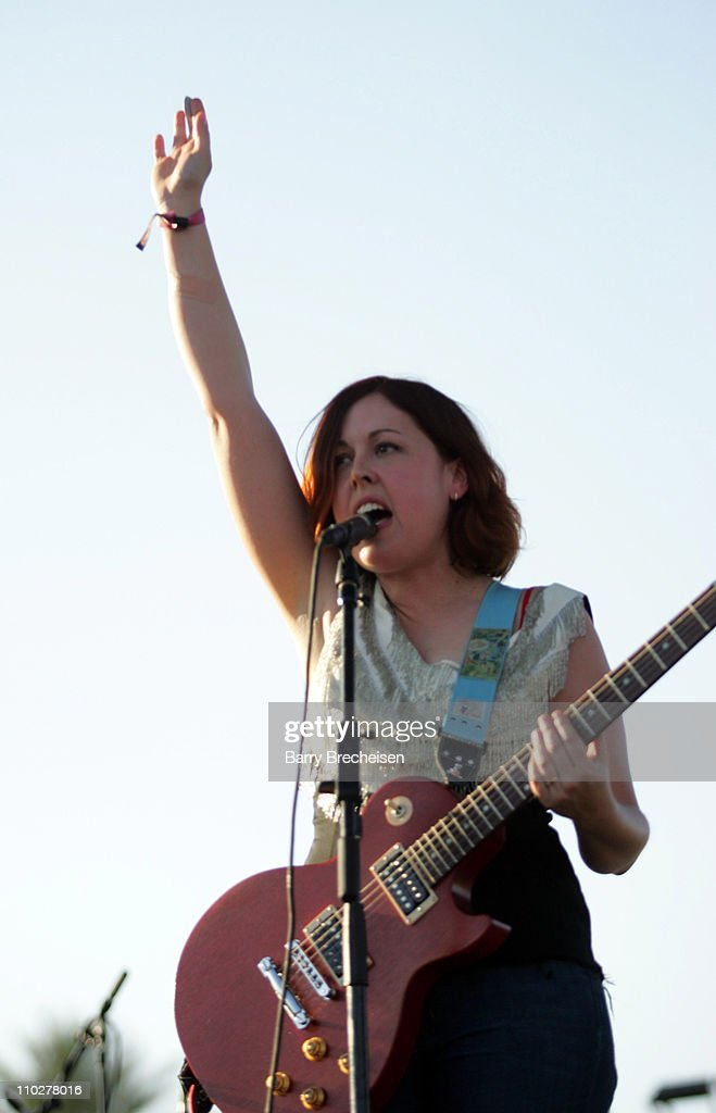 Corin Tucker of Sleater-Kinney during 2006 Coachella Valley Music and Arts Festival - Day Two at Empire Polo Fields in Indio, California, United States.