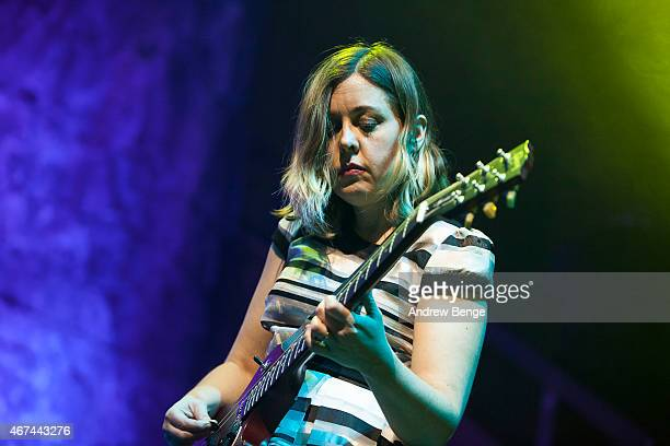 Corin Tucker of SleaterKinney performs on stage at Albert Hall on March 24 2015 in Manchester United Kingdom