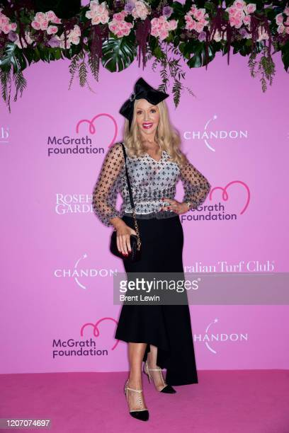Corina Black arrives during Chandon Ladies Day at Rosehill Gardens Racecourse on March 14, 2020 in Sydney, Australia.