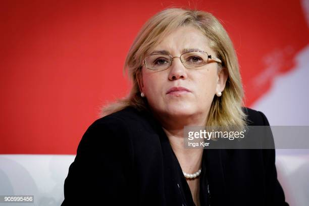 Corina Cretu Commissioner for Economic and Financial Affairs Taxation and Customs in the course of the PES party congress on December 02 2017 in...