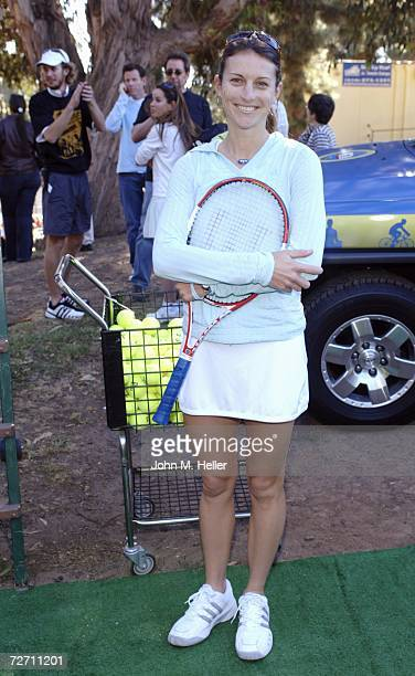 Corina Morariu attends the 10th Anniversary of the Palisades Tennis Center presents The Bryan Brothers Rackets Stars Guitars at the Palisades Tennis...