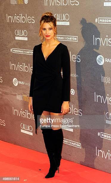 Corina Randazzo attends 'Invisibles ' charity premiere at Callao cinema on November 23 2015 in Madrid Spain