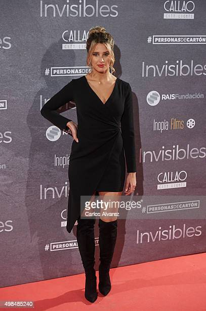 Corina Randazzo attends the 'Invisibles' charity premiere at the Callao cinema on November 23 2015 in Madrid Spain
