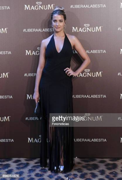 Corina Randazzo attends the Magnum new campaign presentation party at the Palacete de Fortuny on June 14 2017 in Madrid Spain