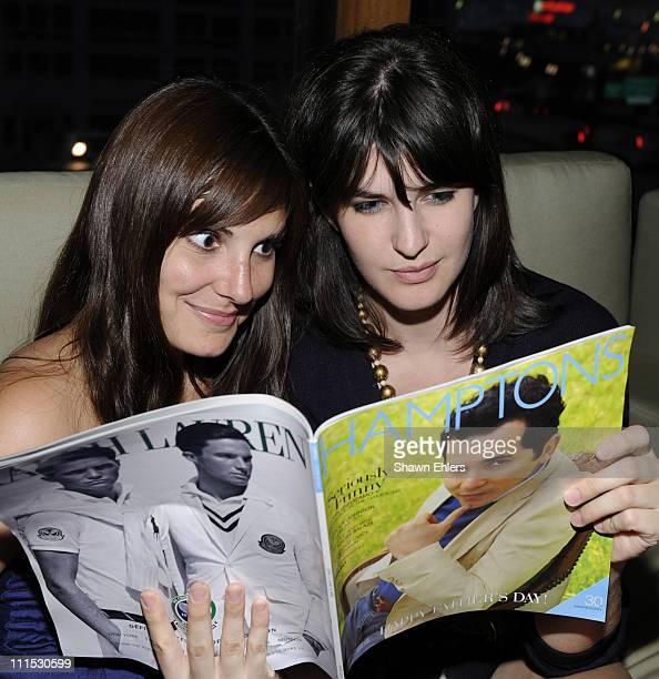 Corina Spadoni and Kristin Flammio attend Hamptons Magazine Celebrates with Cover Star John Leguizamo at Hudson Terrace on June 19 2008 in New York...