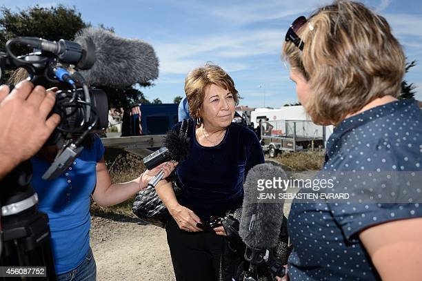 Corine Lepage lawyer of civil parties is pictured on September 25 2014 as the court of Les Sables d'Olonne moves to a day of hearing in La...