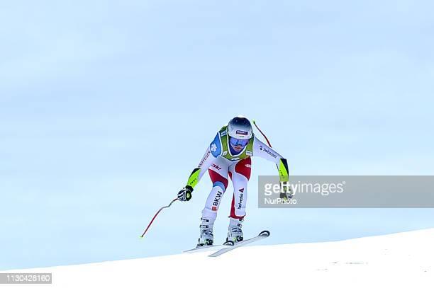 Corine Suter of Switzerland Ski Team during Ladies SuperG Audi FIS Ski World Cup race on March 14 2019 in El Tarter Andorra