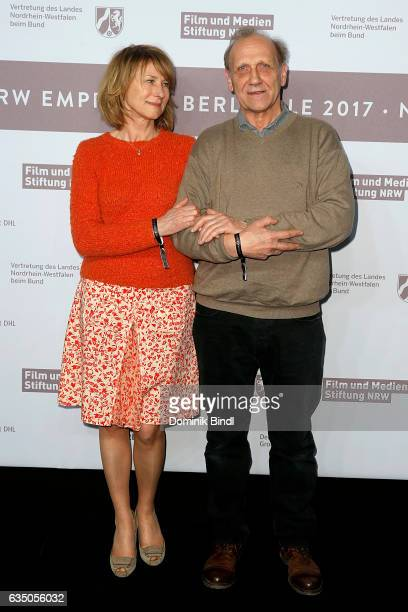 Corinna Harfouch and Karl Kranzkowski attend the NRW Reception at the Landesvertretung during the 67th Berlinale International Film Festival on...