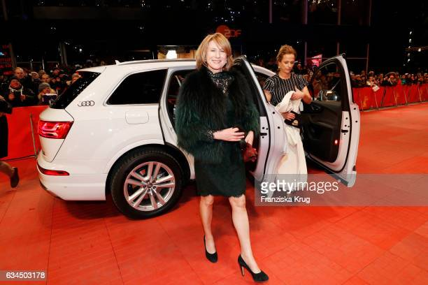 Corinna Harfouch attends the 'Django' premiere during the 67th Berlinale International Film Festival Berlin at Berlinale Palace on February 9 2017 in...