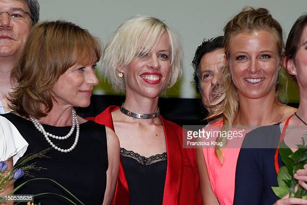 Corinna Harfouch Katja Eichinger and Nina Eichiinger attend the 'First Step Awards 2012' in the Stage Theater Potsdamer Platz on August 20 2012 in...