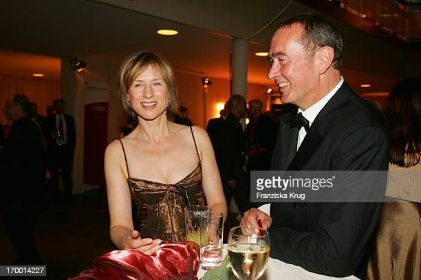 Corinna Harfouch With Bernd Eichinger at Party After The 55th Ceremony Of The German Film Award in the Berlin Philharmonic Hall on 080705