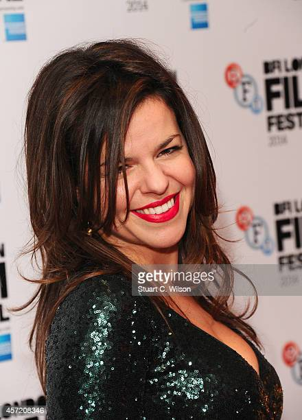 Corinna McFarlane attends the red carpet arrivals of Silent Storm during the 58th BFI London Film Festival at Vue Leicester Square on October 14 2014...