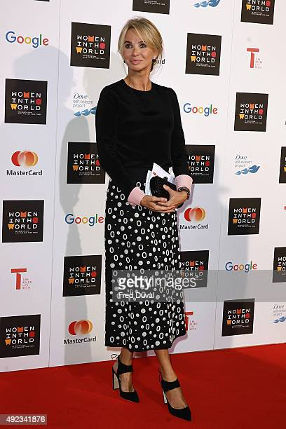 Corinna SaynWittgenstein attends day 1 of the Women in the World summit at Cadogan Hall on October 8 2015 in London England