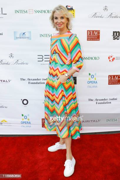 Corinna SaynWittgenstein attends Opera Italiana Is In The Air at the Naumburg Bandshell In Central Park on July 01 2019 in New York City