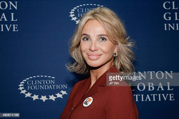 Corinna Sayn-Wittgenstein, Strategic Advisor at CGI poses for a photograph before attending the closing session of the Clinton Global Initiative 2015...