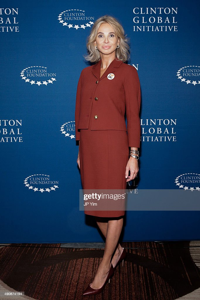 Corinna Sayn-Wittgenstein, Strategic Advisor at CGI poses for a photograph before attending the closing session of the Clinton Global Initiative 2015 on September 29, 2015 in New York City.
