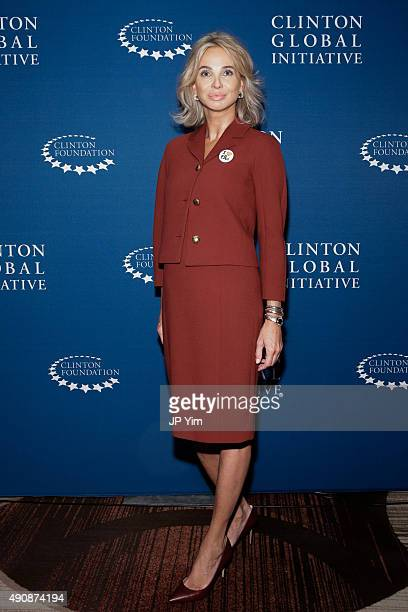 Corinna SaynWittgenstein Strategic Advisor at CGI poses for a photograph before attending the closing session of the Clinton Global Initiative 2015...