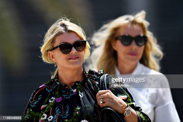 Corinna Schumacher walks in the Paddock before practice for the F1 Grand Prix of Bahrain at Bahrain International Circuit on March 29 2019 in Bahrain...