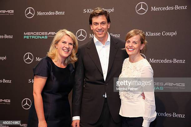 Corinna Widenmeyer Toto and Susie Wolff attend the MercedesBenz SKlasse Coupe presentation at Metastadt on June 12 2014 in Vienna Austria