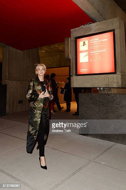 Corinna zu SaynWittgenstein is seen during the opening of The Met Breuer on March 1 2016 in New York City