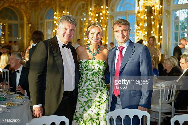 Corinna zu SaynWittgenstein Juan Villalonga and Herman Gref attend the White Nights Festival on June 21 2014 in St Petersburg Russia The White Nights...