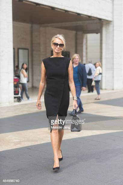 Corinna zu SaynWittgenstein wears a Balenciaga dress Jimmy Choo shoes Hermes bag and Prada sunglasses on Day 5 of New York Fashion Week Spring/Summer...