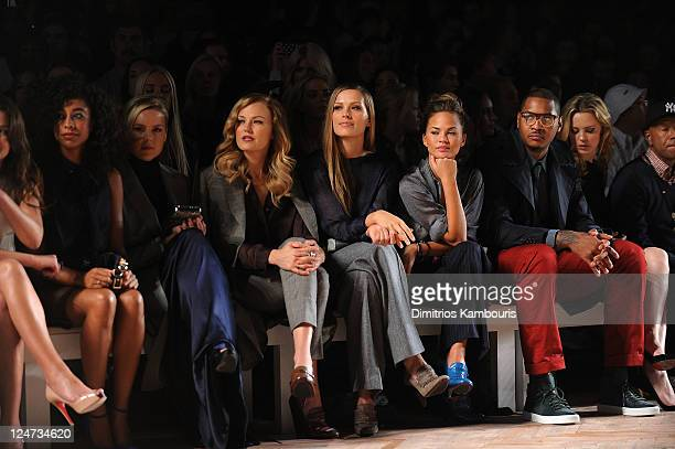 Corinne Bailey Rae Abbie Cornish Malin Akerman Petra Nemcova Chrissy Teigen Carmelo Anthony Melissa George and Russell Simmons attend the Tommy...