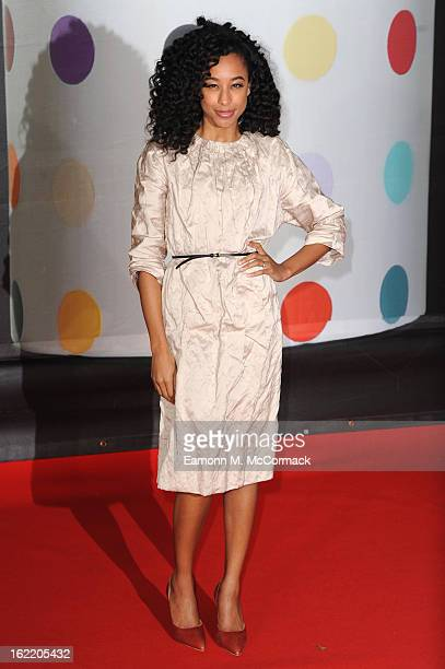 Corinne Bailey Rae attends the Brit Awards 2013 at the 02 Arena on February 20 2013 in London England