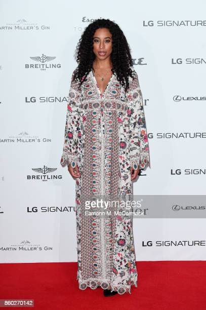 Corinne Bailey Rae attends the Esquire Townhouse with Dior party at No 11 Carlton House Terrace on October 11 2017 in London England