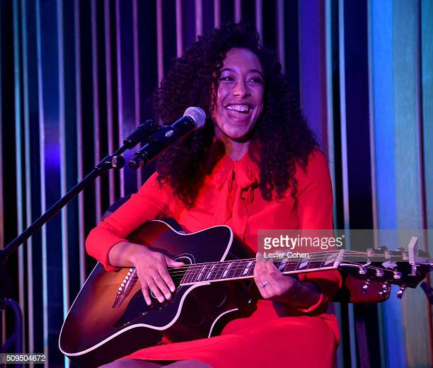 Corinne Bailey Rae performs at the Capitol Music Group Pre Grammy Showcase on February 10 2016 in Los Angeles California
