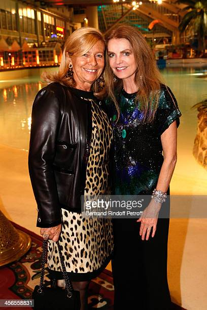 Corinne Bouygues and actress Cyrielle Clair attend the 1st wedding anniversary party of Cyrielle Clair and Michel Corbiere at the Aquaboulevard...