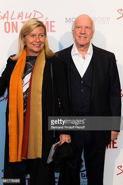 Corinne Bouygues and her husband director Sergio Gobbi attend the premiere of French director Claude Lelouch's film Salaud on t'aime at Cinema UGC...