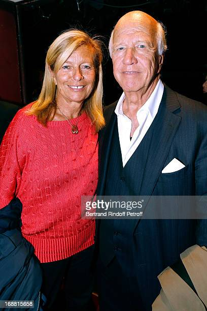 Corinne Bouygues and her husband Productor Sergio Gobbi attend 'Ninon Lenclos ou La Liberte' Theater Play on May 15 2013 in Paris France