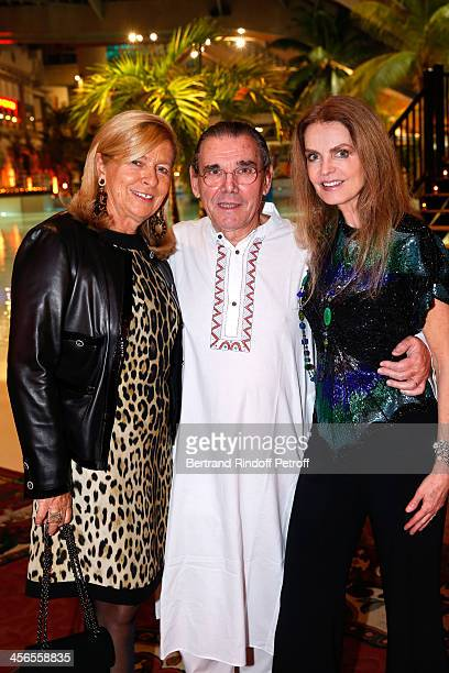 Corinne Bouygues Michel Corbiere CEO of Forest Hill group and Aquaboulevard sports complex and his wife actress Cyrielle Clair attend the 1st wedding...