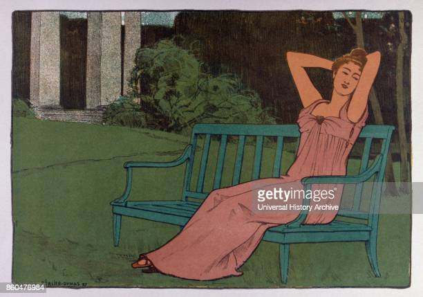 Corinne' by Maurice R_alierDumas born in Paris on February 9 and died in Chatou on December 25 1928 French Art Nouveau painter and poster artist...