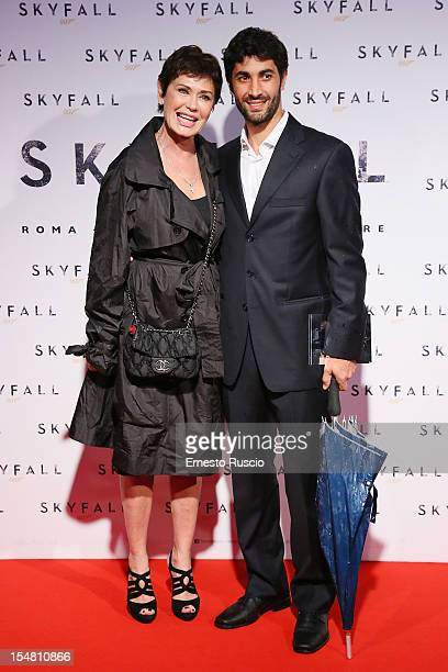 Corinne Clery and Angelo Costabile attend 'Skyfall' Rome premiere at The Space Moderno on October 26 2012 in Rome Italy