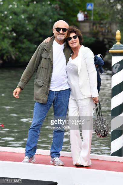 Corinne Clery and Ivano Marescotti are seen arriving at the Excelsior during the 77th Venice Film Festival on September 07, 2020 in Venice, Italy.