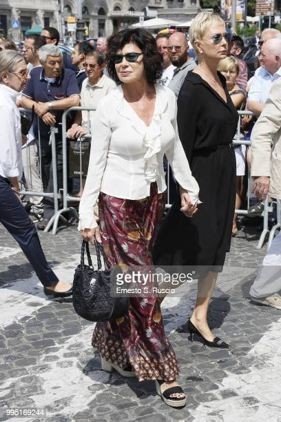 Corinne Clery attends the funeral for Carlo Vanzina at Santa Maria degli Angeli on July 10 2018 in Rome Italy