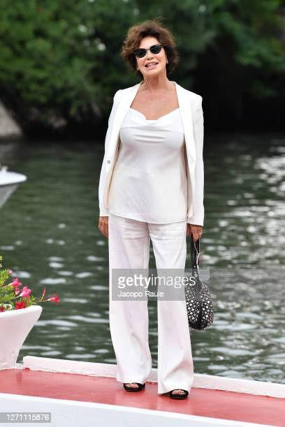 Corinne Clery is seen arriving at the Excelsior during the 77th Venice Film Festival on September 07, 2020 in Venice, Italy.
