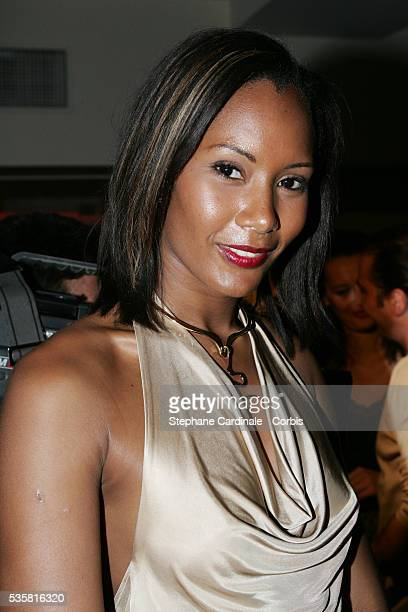 Corinne Coman attends the Mizani party in Paris Mizani is a hair care company specializing in black hair products owned by L'Oreal