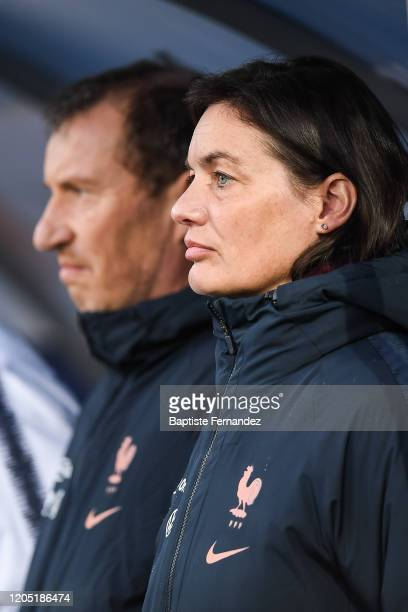 Corinne DIACRE head coach of France during the Tournoi de France International Women's soccer match between France and Canada on March 4 2020 in...
