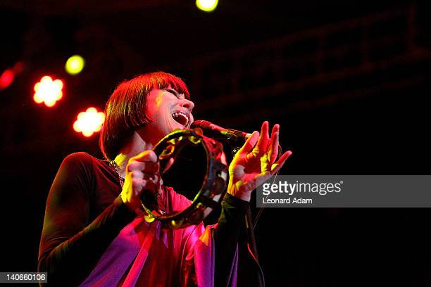 Corinne Drewery of Swing Out Sister performs on stage during the Java Jazz Festival on March 4 2012 in Jakarta Indonesia
