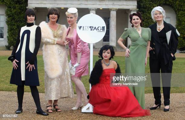 Corinne Drewery Sandie Shaw Sara Stockbridge Lily Allen Kitten Von Mew and Lady Bronwen Astor attend photocall to launch Vintage At Goodwood upcoming...