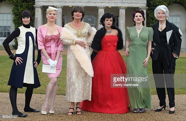 Corinne Drewery Sara Stockbridge Sandie Shaw Lily Allen Kitten Von Mew and Lady Bronwen Astor attend photocall to launch Vintage At Goodwood upcoming...