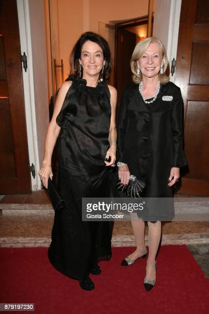 Corinne Flick and her mother Cornelia 'Corry' MuellerVivil during the 80th birthday party of Roland Berger at Cuvillies Theatre on November 25 2017...