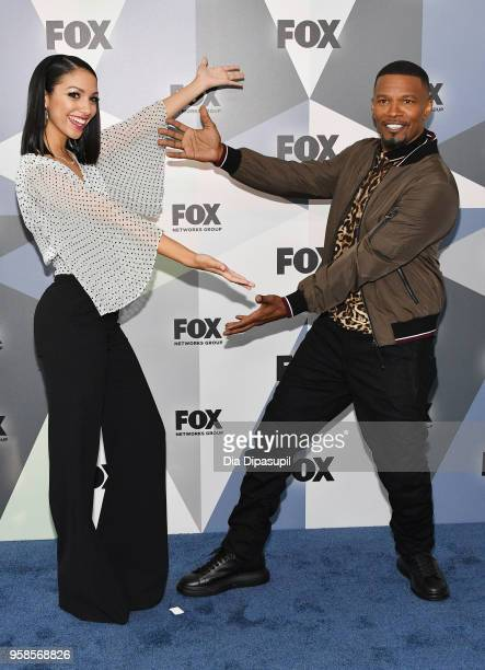 Corinne Foxx and actor Jamie Foxx attend the 2018 Fox Network Upfront at Wollman Rink Central Park on May 14 2018 in New York City