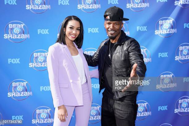 Corinne Foxx and Jamie Foxx at the the BEAT SHAZAM Live Viewing Party in Los Angeles