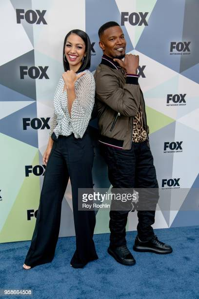 Corinne Foxx and Jamie Foxx attend the 2018 Fox Network Upfront at Wollman Rink Central Park on May 14 2018 in New York City