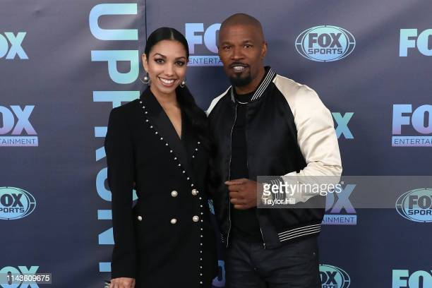 Corinne Foxx and Jamie Foxx attend the 2019 FOX Upfront at Wollman Rink in Central Park on May 13 2019 in New York City