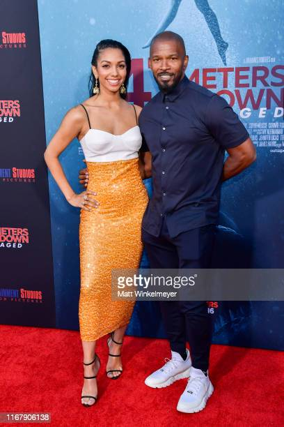 "Corinne Foxx and Jamie Foxx attend the LA Premiere of Entertainment Studios' ""47 Meters Down Uncaged"" at Regency Village Theatre on August 13, 2019..."
